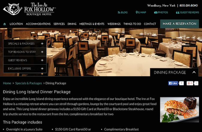 Fox Hollow Landing Page