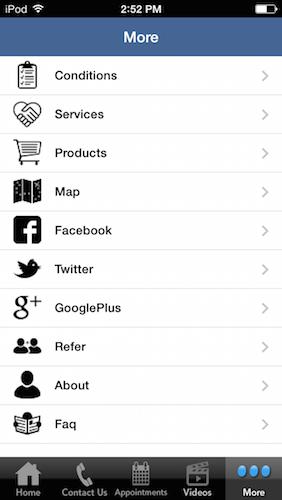 MyChiroTown app dashboard