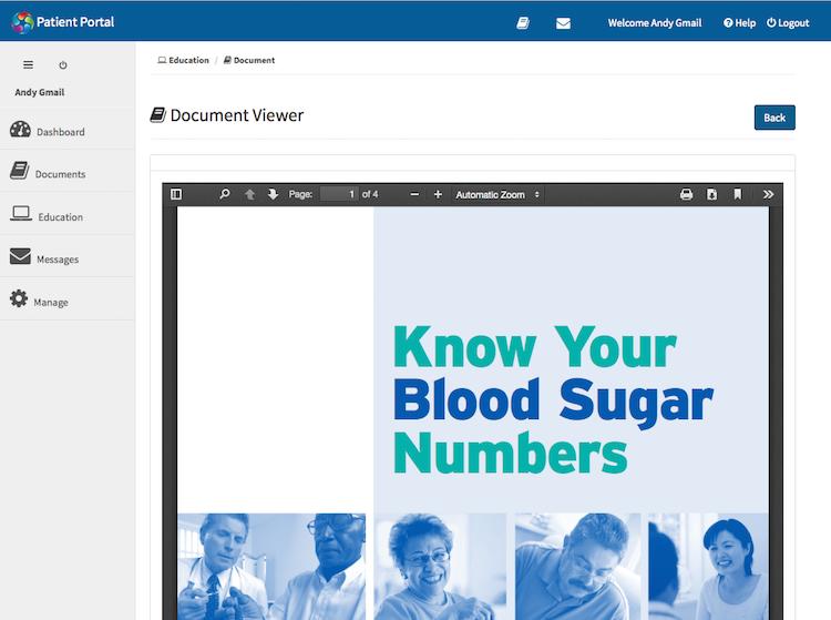 patient portal educational content