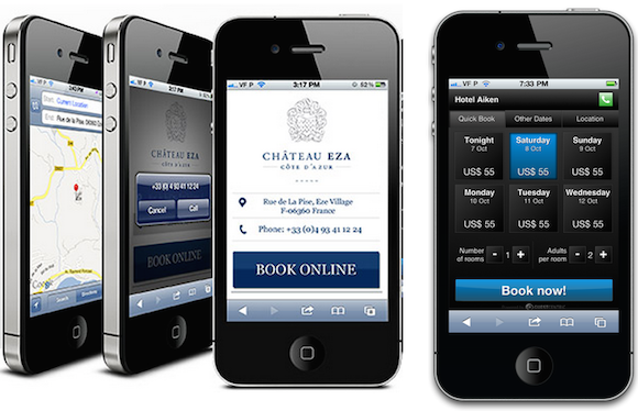 Hotel contact information and booking calendar on GuestCentric's booking engine