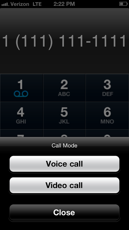 XO WorkTime mobile interface