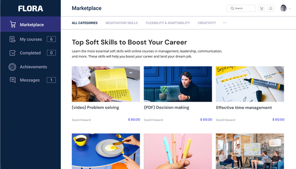 Flora LMS Course Marketplace