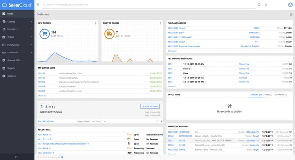 SellerCloud Dashboard