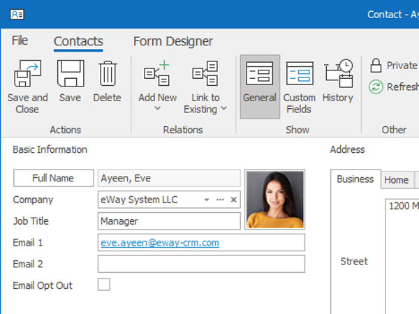 e-Way CRM Contacts