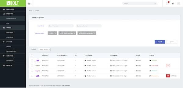 Jolt Fulfillment System integrated order management