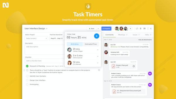 nTask Task Timers