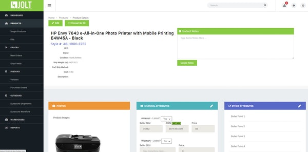Jolt Fulfillment System product details