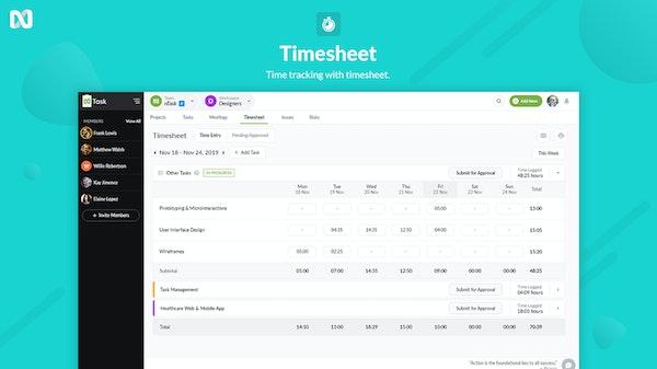 nTask TimeSheets