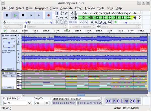 Audacity on Linux