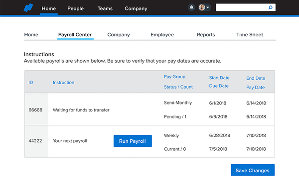 Namely payroll center