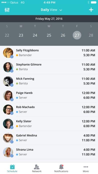 OpenSimSim - OpenSimSim daily shift view screenshot