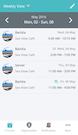 OpenSimSim weekly shift view screenshot