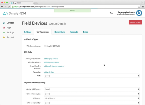 SimpleMDM field devices