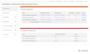 OpenWater administrator portal screenshot