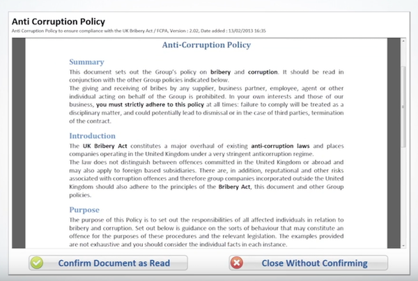 PolicyHub attestation screenshot