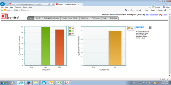 DiCentral supply chain management screenshot