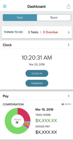ADP Mobile Solutions dashboard screenshot