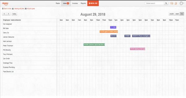 Okappy job scheduling screenshot
