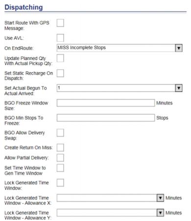 Descartes Route Planner On-demand dispatching screenshot