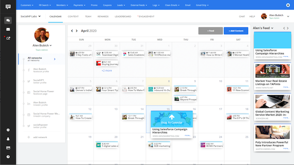 Social HorsePower post scheduling calendar