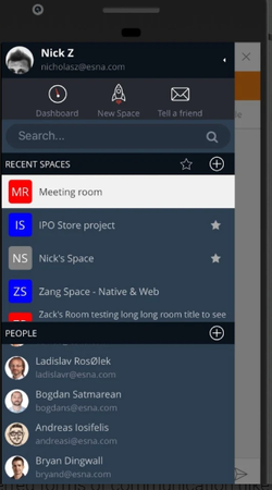 Avaya Spaces workspaces