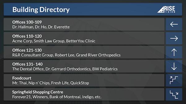 Building directory