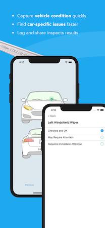 Driveroo Inspector Vehicle Diagram