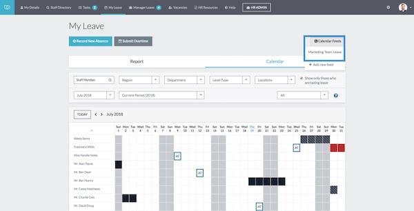 CiviHR leave management screenshot