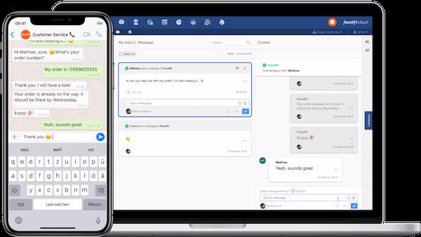 Facelift Cloud customer service screenshot