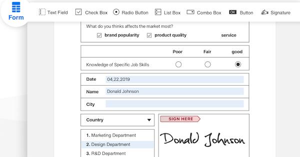 PDF Reader Pro signature