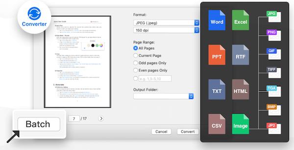 PDF Reader Pro PDF conversion