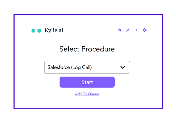 Kylie.ai procedure selection