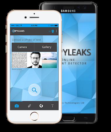 Copyleaks mobile app