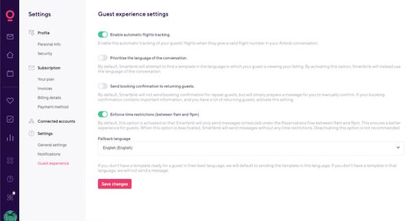 Smartbnb Settings