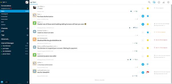 CommBox open conversations