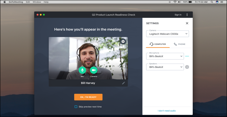 GoToMeeting - GoToMeeting join meeting preview screenshot