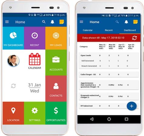 SimpleCRM field service mobile application