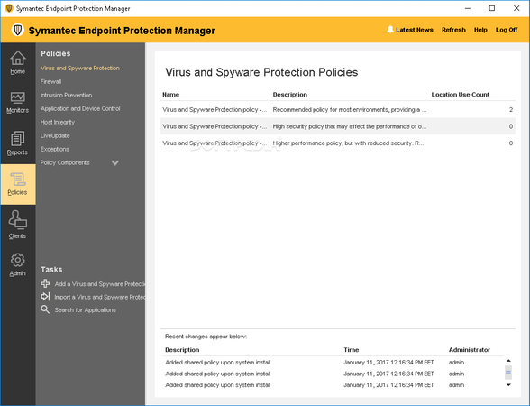 Symantec Endpoint Protection Policies
