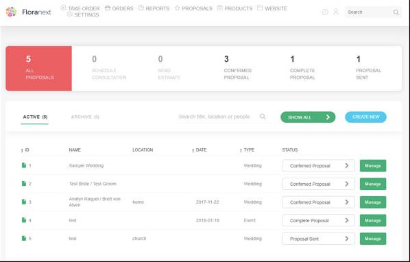 Floranext - Floranext advanced proposals screenshot