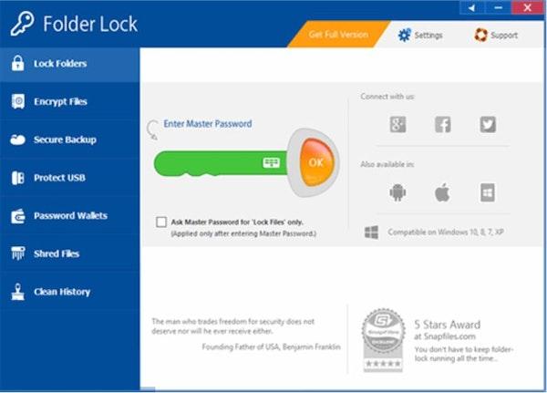 Folder Lock password protection