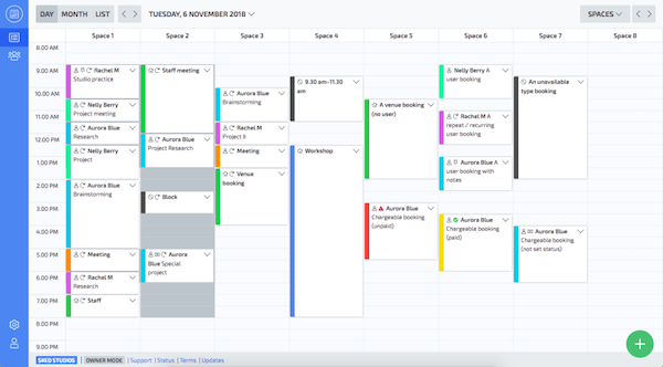 Skedda calendar management screenshot