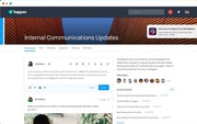 Happeo internal communications update screenshot