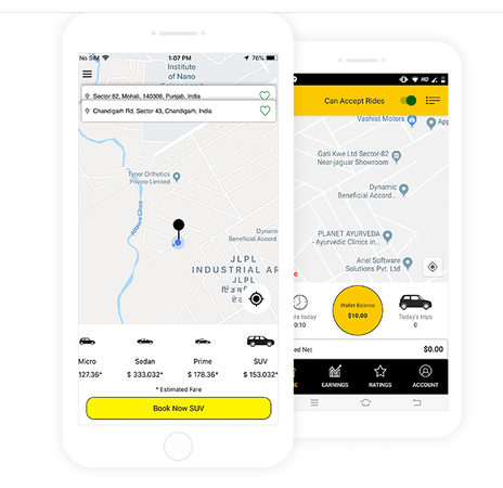 VivoCabs Rider and Driver Apps