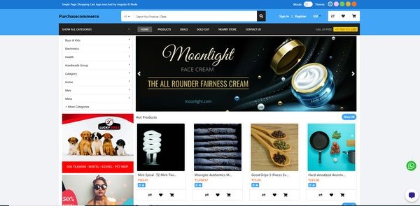 Purchase Commerce customer portal