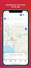 Telstra Trades Assist route visualization screenshot
