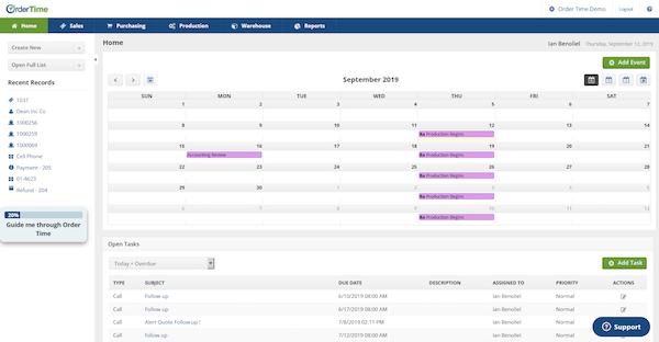 Home Screen with Task Calendar