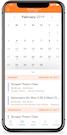Moment class schedule screenshot