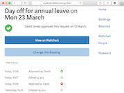 Bindle bookings screenshot
