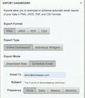 Botkeeper - Exporting dashboard