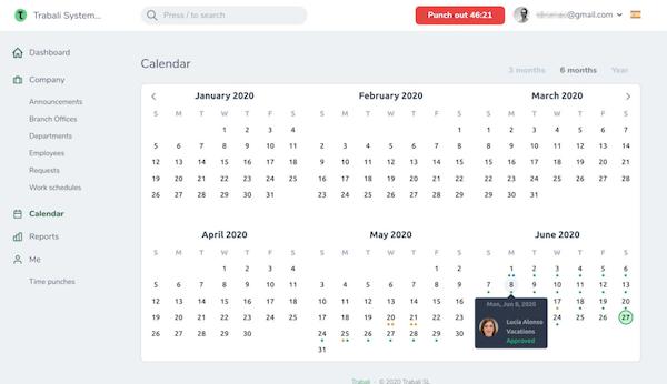Trabali calendar